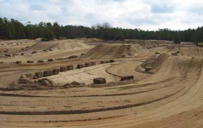 Photo 1. View of motocross track, NJ FACE Project.
