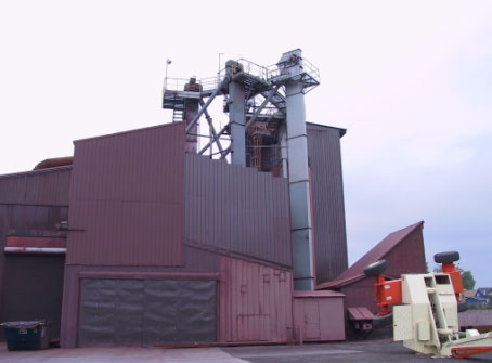 Figure 1. Bucket elevator that was being inspected by the victim during the fatal incident.