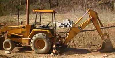 Figure 1. Backhoe model involved in incident
