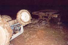 Figure 2. The front of the tractor facing the trailer following the rollover.
