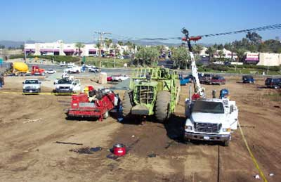 Exhibit #1. A view of the construction site and equipment involved in this incident.
