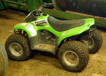 Photo 3 – Much smaller ATV used by younger boys on this farm.