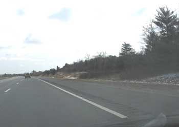 Figure 3. Incident location (right hand breakdown lane).