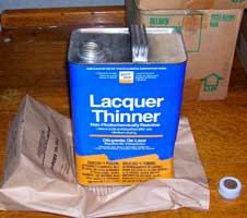 Figure 5. Flammable lacquer thinner used by victim to soften glue.