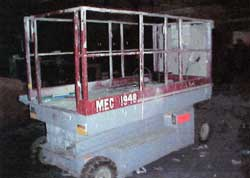 Photo 2. Scissor Lift