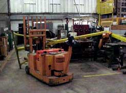 Photo 3. Forklift & A-frame