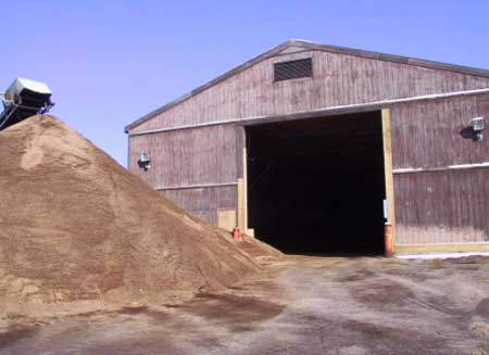 Figure 4. Storage shed from which front-end loader emerged, striking victim.