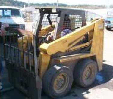 One of three similar skid steers operated at the worksite.