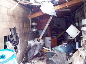Exhibit 3. The inside of the equipment room after the  explosion.