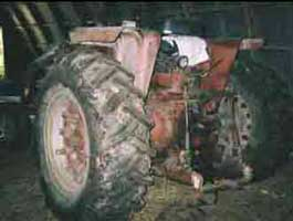 tractor involved in incident