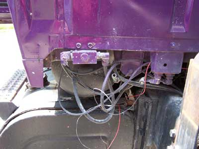 Photo 7: Picture of air tank shared by brake lines and tailgate system