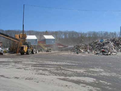Construction debris processing and recycling facility