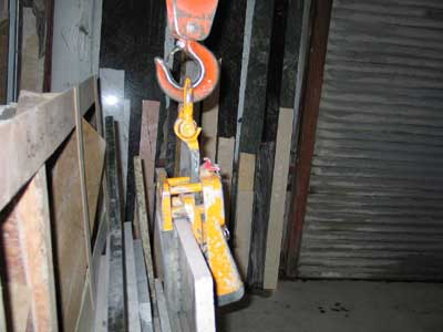 Gantry crane clamp