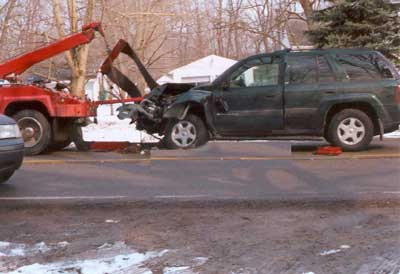 truck and vehicle at the time of incident