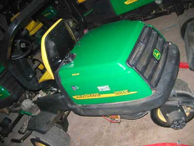 rear of mower