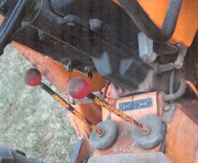Figure 4. Position of gear levers taken after incident.