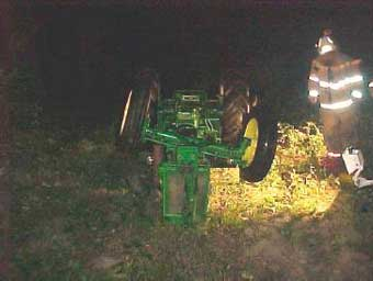 Figure 6. Overturned tractor