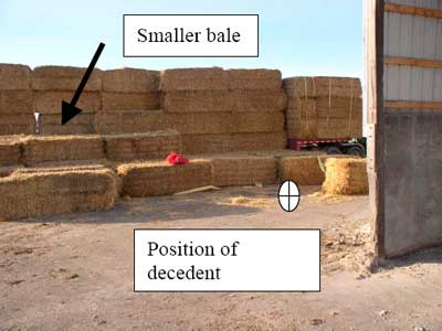 variable sized bales and position of decedent