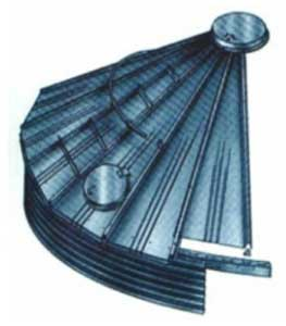 Figure 1. Typical Steel Bin Roof with Access Hatch and Center Opening Cover.