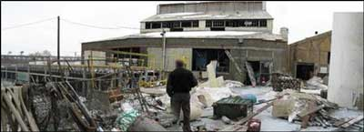 Photo 4. Panoramic photograph of the incident site, facing east. (NJFACE Photo)