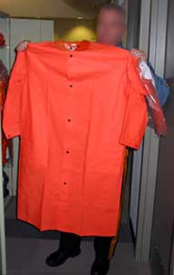Photo 2. Raincoat identical to the one worn by the victim.