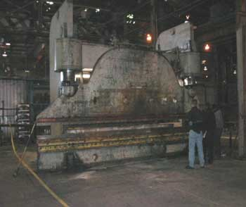 Figure 1. Press brake involved in the incident.