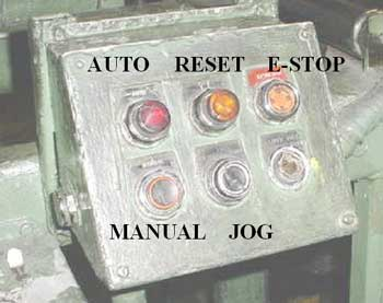 Figure 2. Control panel for the tread scrap machine involved in the incident.
