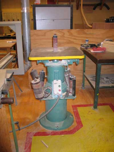 Spindle sander involved in the incident
