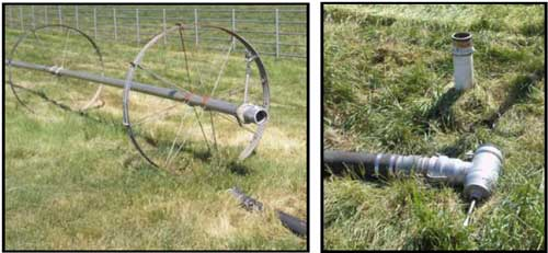 irrigation wheel and removable valve