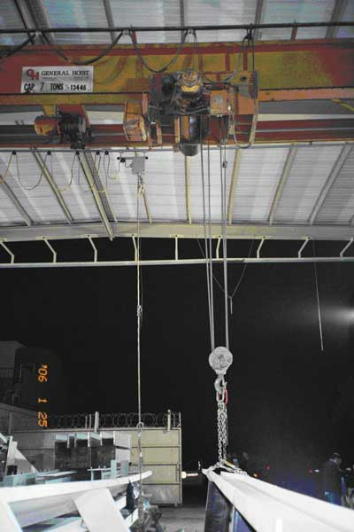 Exhibit 5. A picture of the overhead crane and controls involved the incident.