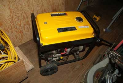 Portable gasoline powered generator involved in the incident.