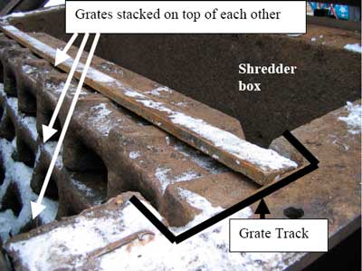 Grate position in track