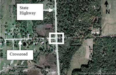 Satellite view of incident scene