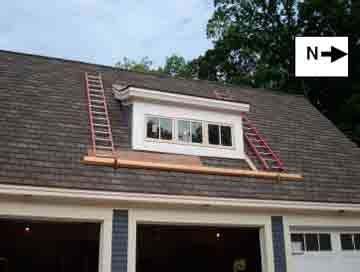 roof showing placement of the roof brackets planks and ladders - Roof Brackets