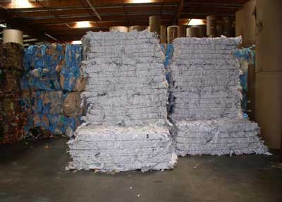 stacked recycled paper