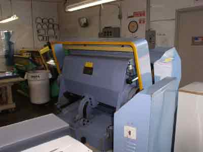 molding press in closed position