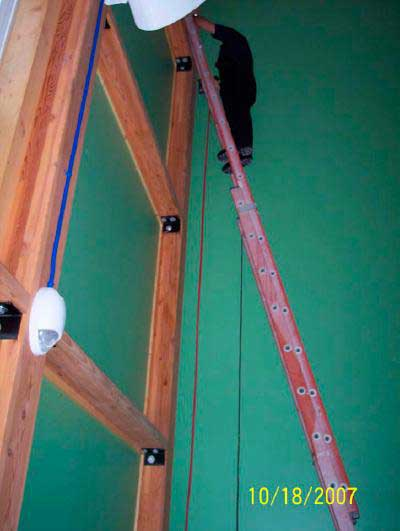 postulated position of decedent on the ladder at the time of the fall