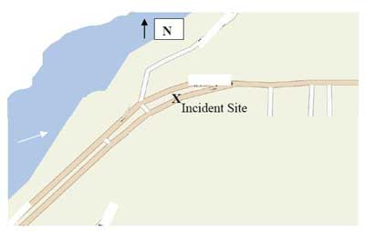 mapquest of the incident site