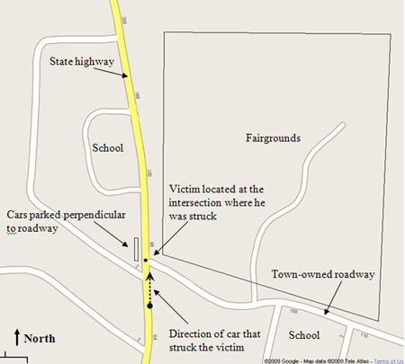 Diagram of the incident location.