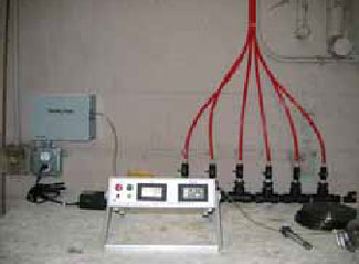 Figure 2. GCS150 and remote sampling configuration.