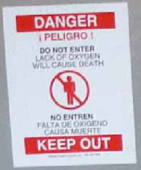 Figure 4. Close up of Danger sign on door shown in Figure 1.