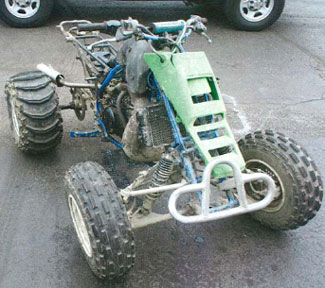 Figure 1. ATV involved in incident.