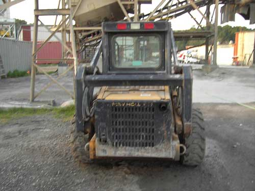 back of skid steer