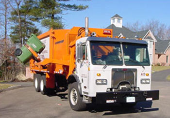 Automated collection truck.