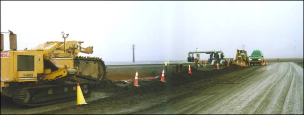 view of trencher and road
