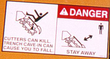illustrated safety placard