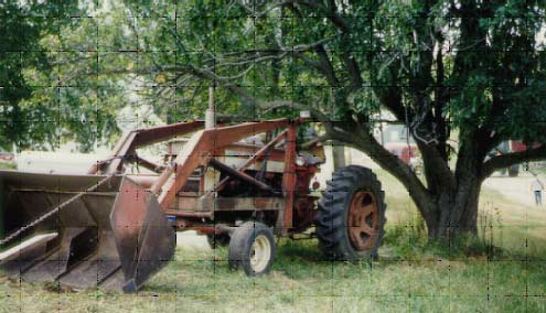 photo of the tractor