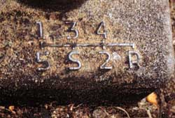 Transmission positions plate.