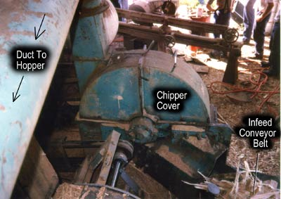 wood chipper and duct