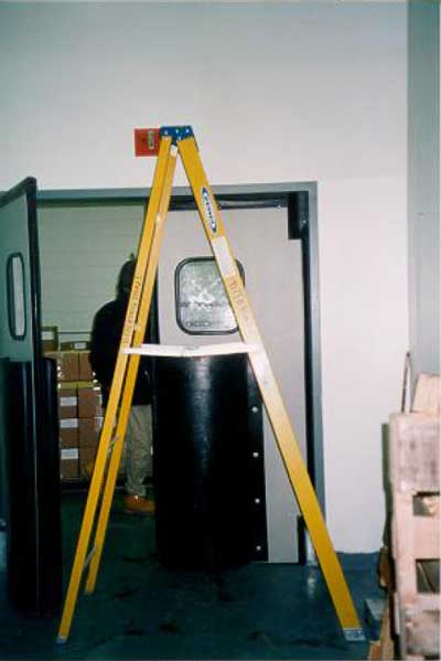 Stepladder used by the victim